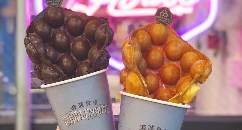 [台中甜點] Bubble House 波波食堂 雞蛋仔專賣店 還有道地港式奶茶/凍檸茶 (健行店)