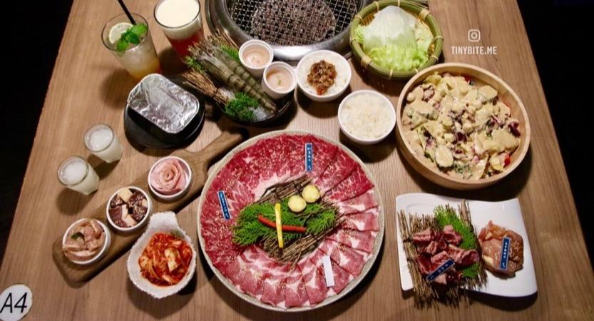 [台中美食] 台中燒肉 | 雲火日式燒肉 套餐高達10種肉品 牛豬雞鴨加海鮮新鮮多樣 副食沙拉、包肉生菜跟甜點整個超滿足
